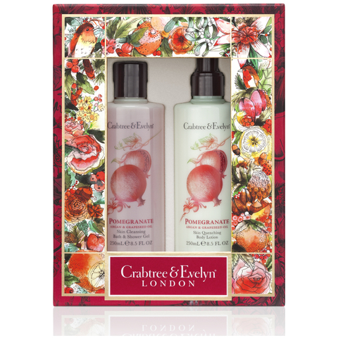 CRABTREE & EVELYN POMEGRANATE BODY CARE DUO
