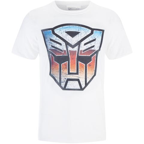 Transformers Men's Transformers Multi Emblem T-Shirt - White
