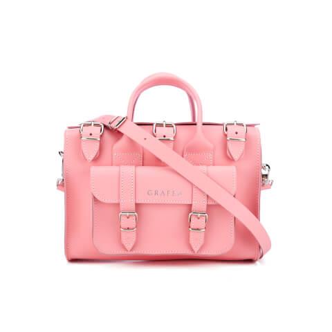 Grafea Women's Luna Leather Shoulder Bag - Pink Lemonade