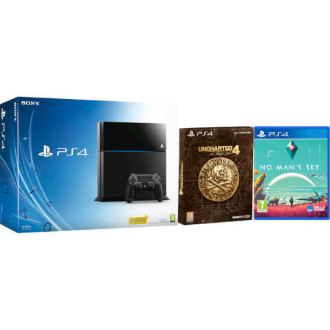 Sony PlayStation 4 500GB Console - Includes Uncharted 4: A Thief's End - Special Edition + No Man's Sky