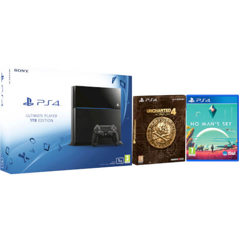 Sony PlayStation 4 1TB Ultimate Player Edition Console - Includes Uncharted 4: A Thief's End - Special Edition + No Man's Sky