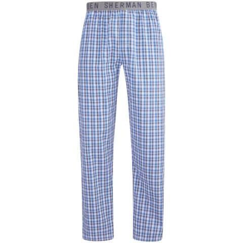 Ben Sherman Men's Check Richard Lounge Pants - Blue/White/Black
