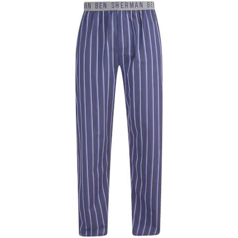 Ben Sherman Men's Stripe Jason Lounge Pants - Navy/Grey