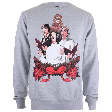 Star Wars Men's Christmas Choir Crew Sweatshirt - Grey Heather
