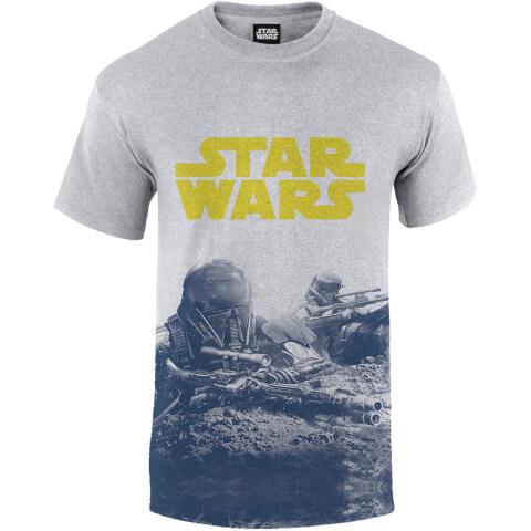 Star Wars: Rogue One Men's Blue Death Trooper Print T-Shirt - Grey