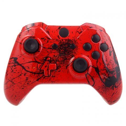 Xbox One Custom Controller - Red Splatter