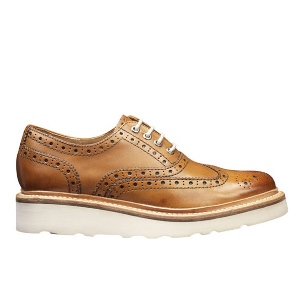 Grenson Women's Emily V Brogues - Tan