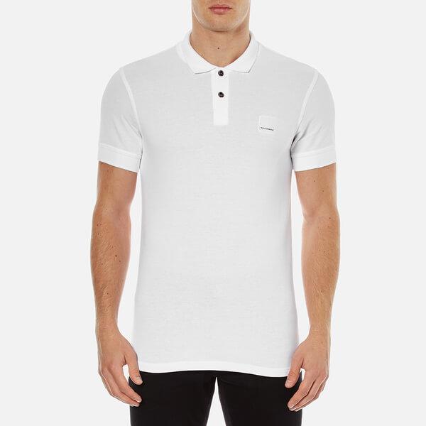 BOSS Orange Men's Pascha Slim Block Branded Polo Shirt - White