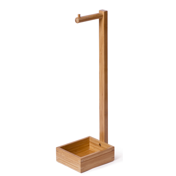 Wireworks Arena Bamboo Freestanding Roll Holder