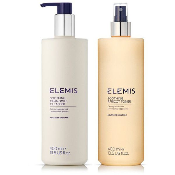 ELEMIS SUPER SIZE SOOTHING CLEANSER TONER DUO