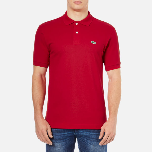 Lacoste Men's Basic Pique Short Sleeve Polo Shirt - Red