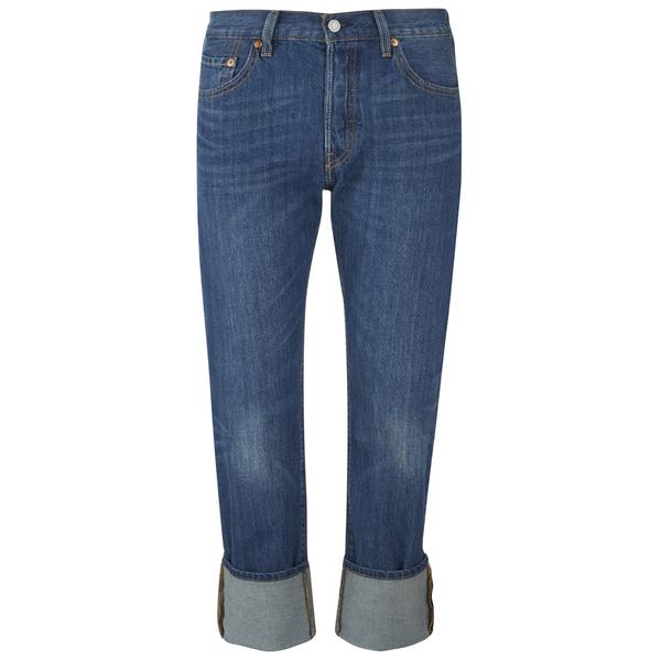 Levi's Women's 501 Cali Cool Mid Rise Tapered Jeans - Dark Indigo