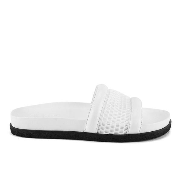 Alexander Wang Women's JAC Airtex 3D Sport Mesh/Suede Slide Sandals - Chalk