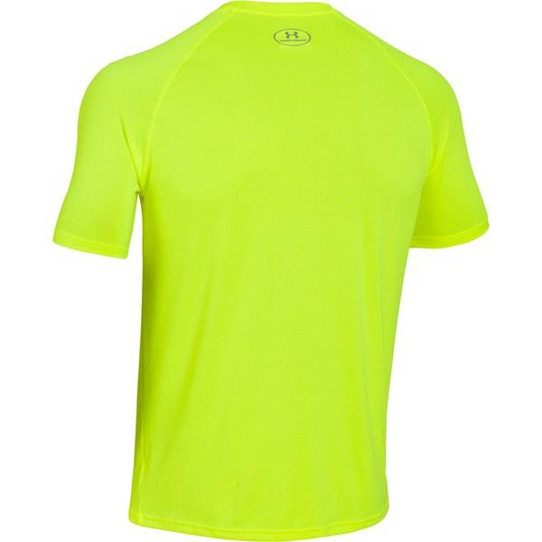 Under armour men 39 s tech t shirt hi vis yellow for Yellow under armour long sleeve shirt