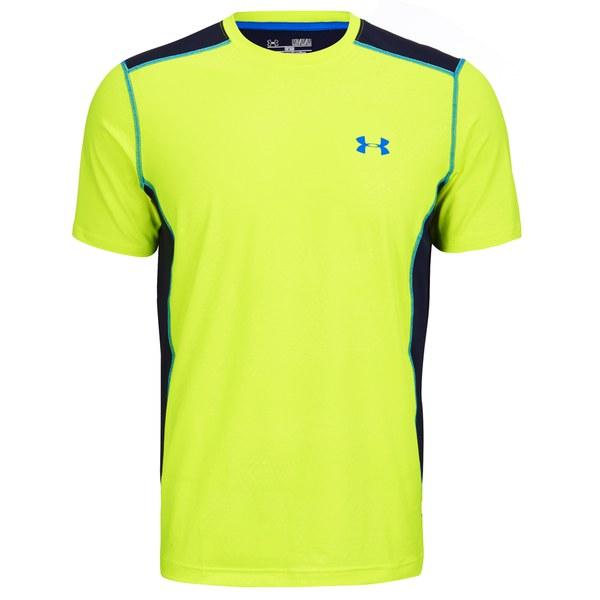 Under armour men 39 s raid short sleeve training t shirt for Yellow under armour long sleeve shirt
