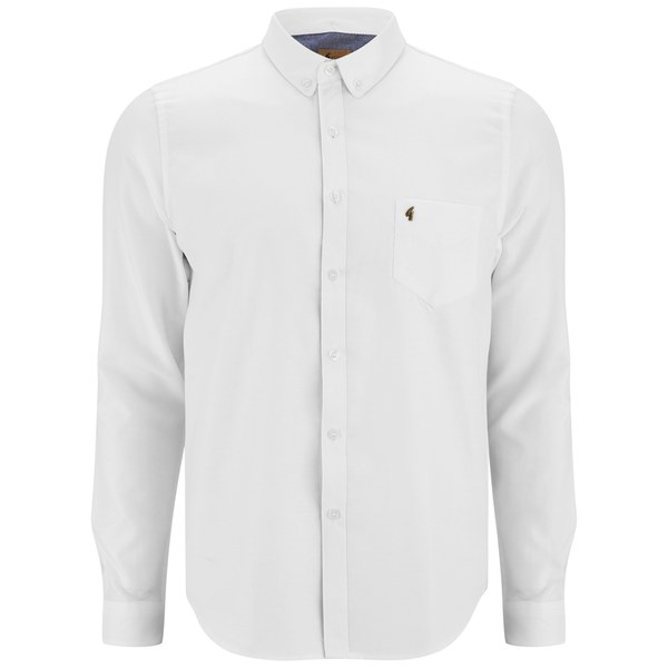 Gabicci vintage men 39 s button down oxford shirt white for Mens white oxford button down shirt