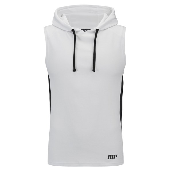 myprotein men 39 s hood singlet white. Black Bedroom Furniture Sets. Home Design Ideas
