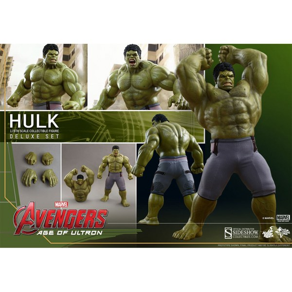 Hot Toys Marvel Avengers Age of Ultron Deluxe Hulk 1:6 Scale Figure