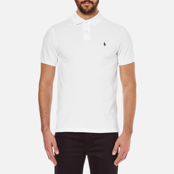 Polo Ralph Lauren Men's Custom Fit Short Sleeved Polo Shirt - White