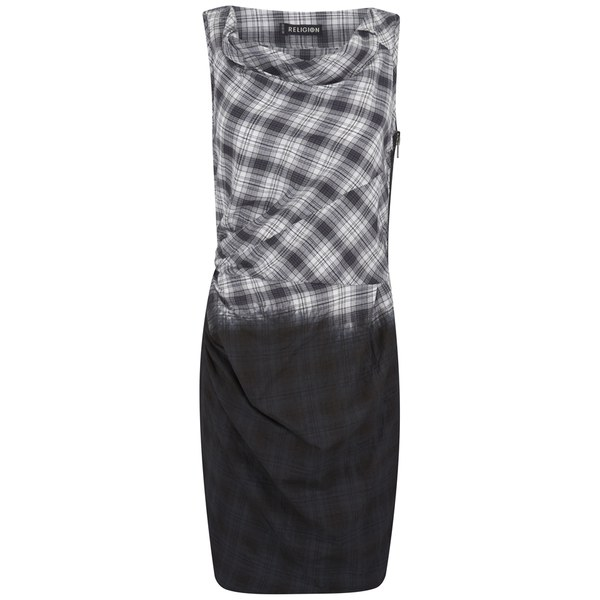 Religion Women's Ombre Tank Dress - Black/White