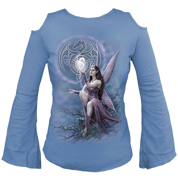 Spiral Women 39 S Celtic Fairy Shoulder Hole Top Sky Womens