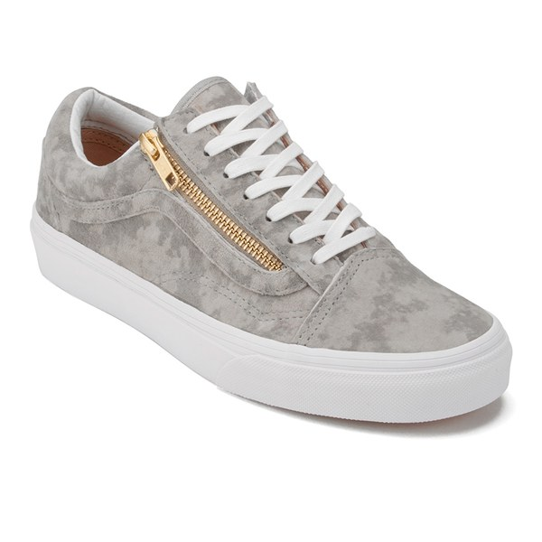 Vans Women S Old Skool Zip Marble Suede Trainers Khaki