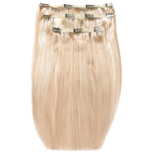Beauty Works Deluxe Clip-In Hair Extensions 18 Inch - Champagne Blonde 613/18