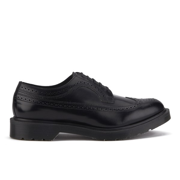 Dr. Martens Men's 'Made in England' 3989 Leather Brogues - Black Boanil Brush