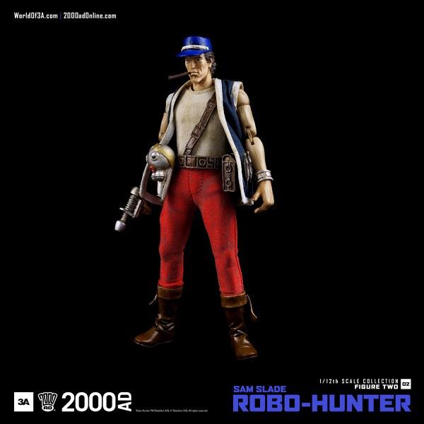 ThreeA 2000 AD Sam Slade Robo-Hunter 1:12 Scale Figure