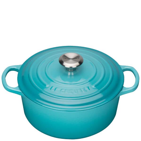 Le Creuset Signature Cast Iron Round Casserole Dish - 24cm - Teal