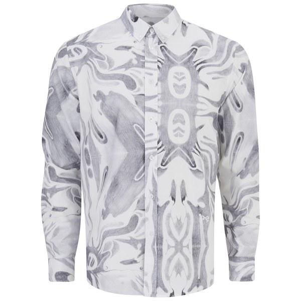 Soulland Men's Sine Printed Long Sleeve Oxford Shirt - Multi