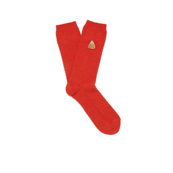 Folk Men's Plain Socks - Red