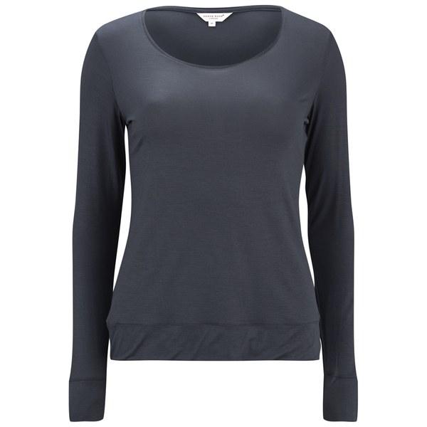 Derek Rose Women's Carla 1 Ladies Long Sleeve T-Shirt - Charcoal