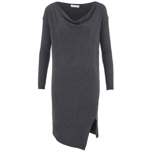 SuperTrash Women's Dachire Zip Detail Jumper Dress - Grey