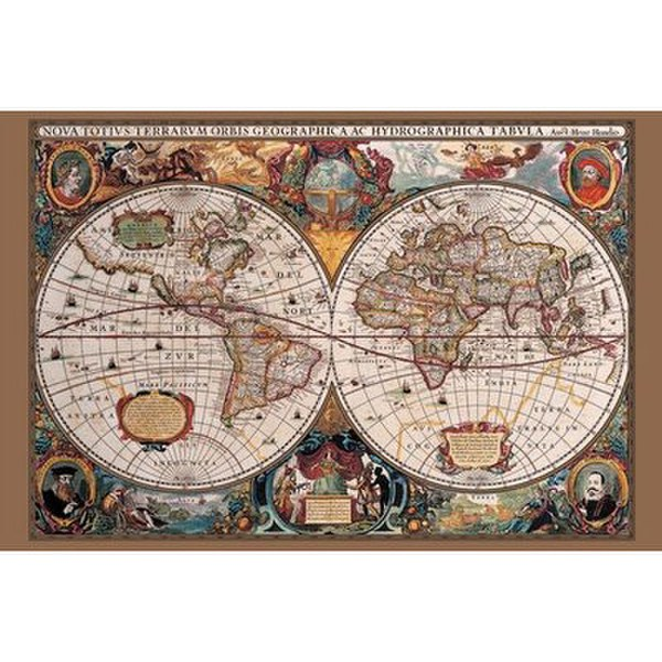 World Map 17th Century - 24 x 36 Inches Maxi Poster