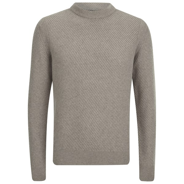 Paul Smith Jeans Men's Wool Rib-Knit Jumper - Stone