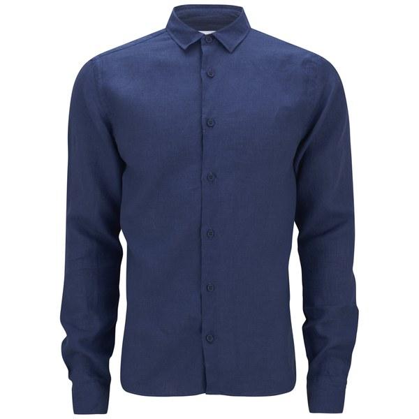 Orlebar Brown Men's Long Sleeve Shirt - Azure