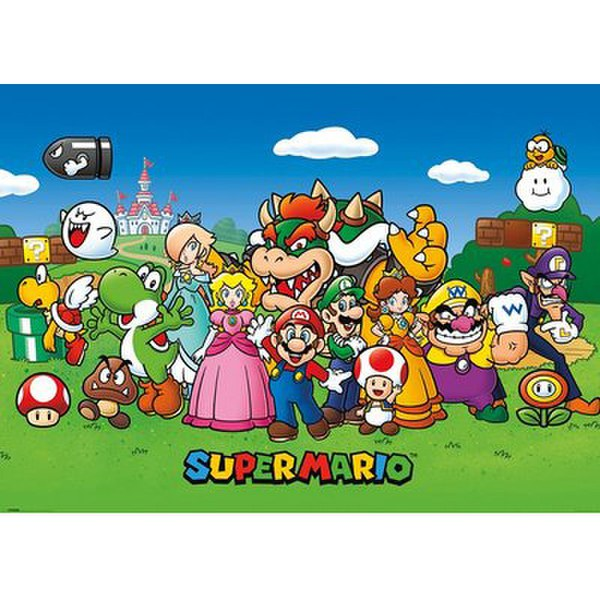 Nintendo Super Mario Animated - 40 x 55 Inches Giant Poster