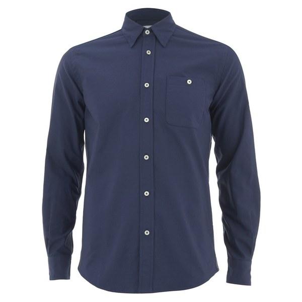 Knutsford x Tripl Stitched Men's Long Sleeve Oxford Shirt - Navy