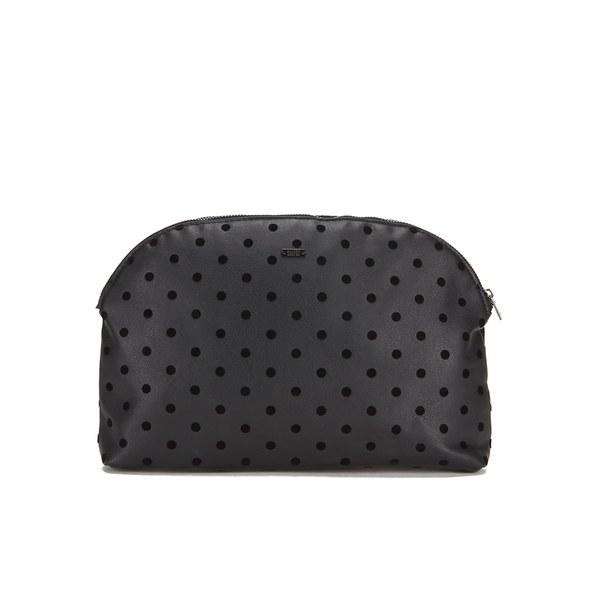 Maison Scotch Women's Dots Toiletry Bag - Black