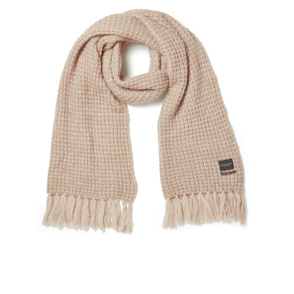 Maison Scotch Womens Knitted Fluffy Waffle Stitch Scarf ...