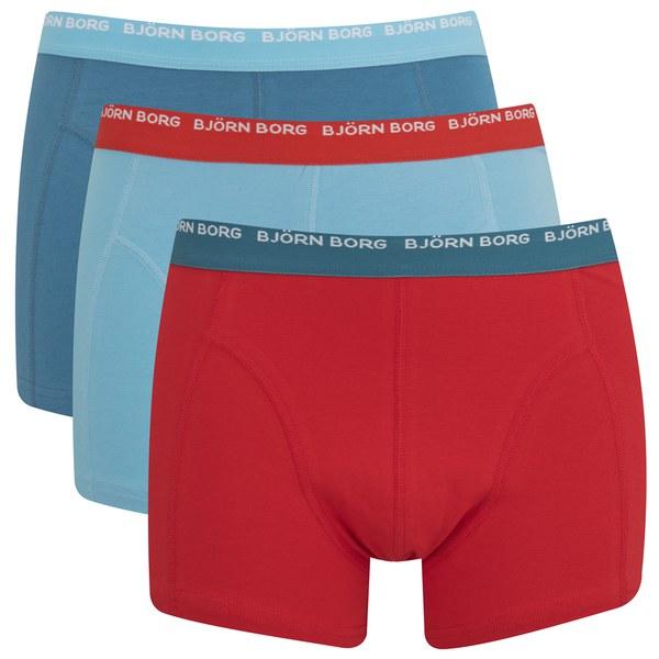 bjorn borg men 39 s triple pack boxer shorts faience free uk delivery. Black Bedroom Furniture Sets. Home Design Ideas