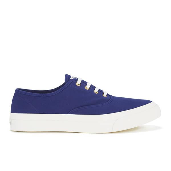 Maison Kitsuné Men's Canvas Sneakers - Navy