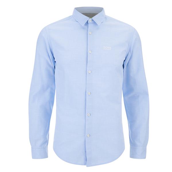 BOSS Green Men's C-Balsamo Small Logo Long Sleeve Shirt - Sky