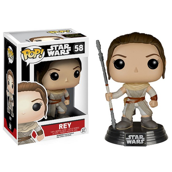 star wars the force awakens rey pop vinyl figure iwoot. Black Bedroom Furniture Sets. Home Design Ideas