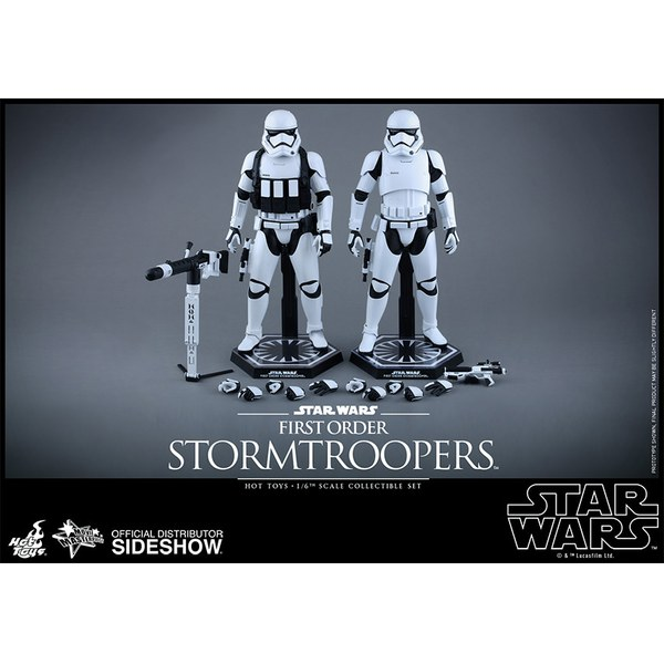 Hot Toys Star Wars: The Force Awakens - First Order Stormtrooper Set - Sixth Scale Figure
