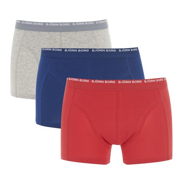 bjorn borg men 39 s 3 pack boxer shorts estate blue mens underwear. Black Bedroom Furniture Sets. Home Design Ideas