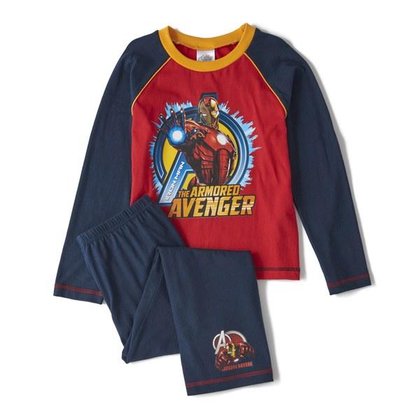 Marvel Avengers Boy's Long Sleeve Pyjamas - Navy
