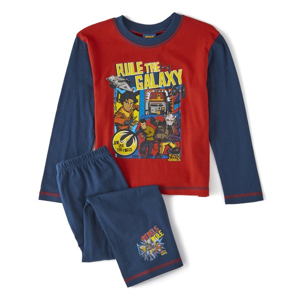 Star Wars Boy's Rule The Galaxy Pyjamas - Blue/Red