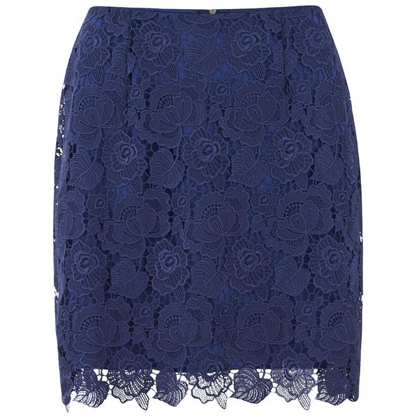 Sportmax Code Women's Corea Mini Skirt - Navy